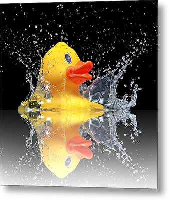 Yellow Duck Metal Print