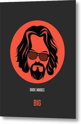 Dude Poster 1 Metal Print by Naxart Studio