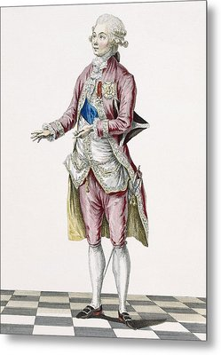 Duke In Country Attire Decorated Metal Print by Pierre Thomas Le Clerc