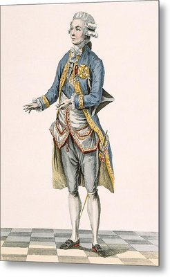 Duke In His Ceremonial Attire Pictured Metal Print by Pierre Thomas Le Clerc