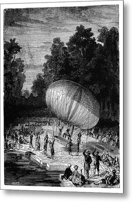 Duke Of Chartres Balloon Flight Metal Print by Science Photo Library
