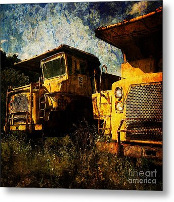 Dump Trucks Metal Print by Amy Cicconi