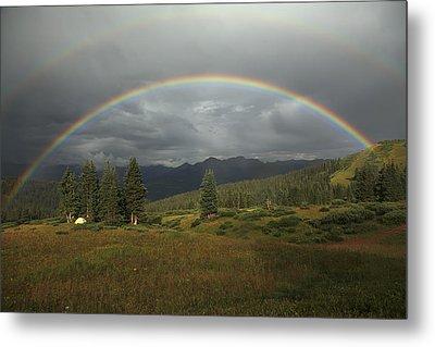 Durango Double Rainbow Metal Print by Alan Vance Ley