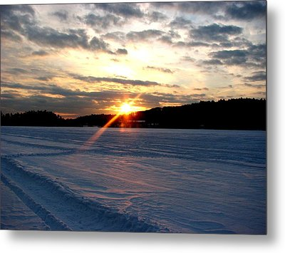 Dusk On The Lake Metal Print