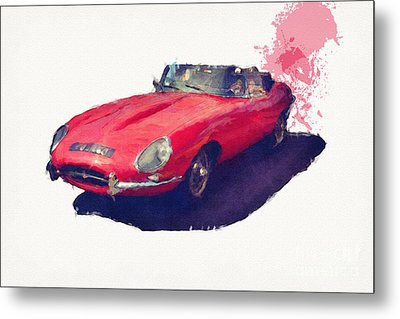 E Type Metal Print by Roger Lighterness