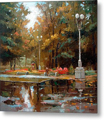 Metal Print featuring the painting Early Autumn by Dmitry Spiros