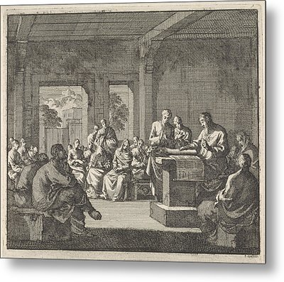 Early Christian Community Listening To A Reading Metal Print by Quint Lox