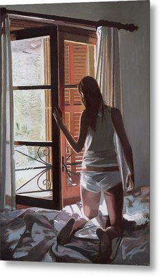 Early Morning Villa Mallorca Metal Print by Gillian Furlong