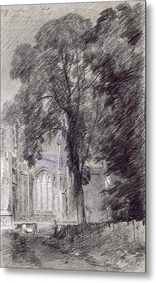 East Bergholt Church - West End Metal Print by John Constable