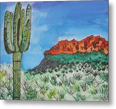 East Valley Mountains Metal Print by Marcia Weller-Wenbert