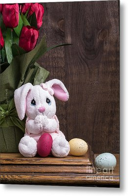 Easter Bunny Metal Print by Edward Fielding