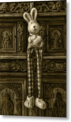 Easter Bunny From The Past Metal Print by Gynt