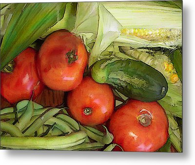 Eat Your Veggies Metal Print by Elaine Plesser