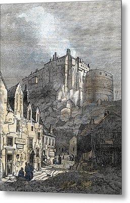 Edinburgh Castle Scotland 1833 Metal Print
