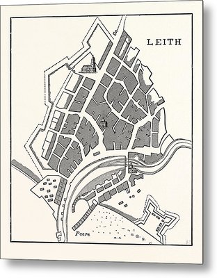 Edinburgh Plan Of Leith Showing The Eastern Fortifications Metal Print
