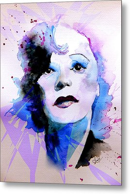 Metal Print featuring the painting Edith Piaf by Steven Ponsford