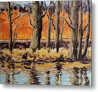 Eel River Tow Path Metal Print by Charlie Spear