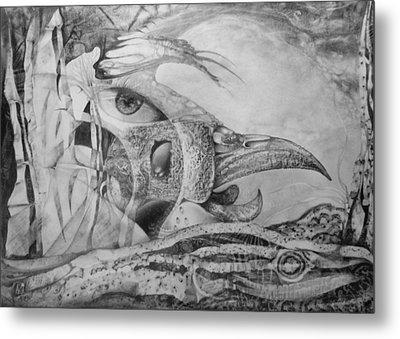 Ego-bird-fish Nesting Ground Metal Print by Otto Rapp