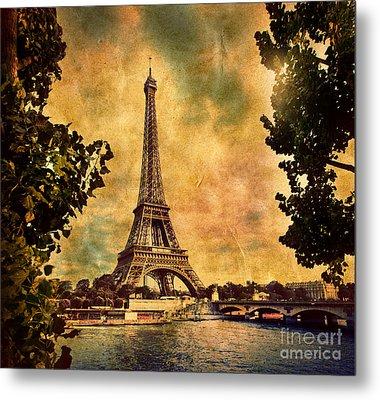 Eiffel Tower In Paris France Metal Print by Michal Bednarek