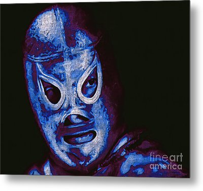 El Santo The Masked Wrestler 20130218m168 Metal Print by Wingsdomain Art and Photography