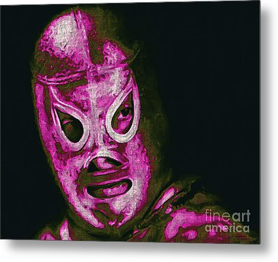 El Santo The Masked Wrestler 20130218m68 Metal Print by Wingsdomain Art and Photography