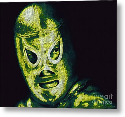 El Santo The Masked Wrestler 20130218p39 Metal Print by Wingsdomain Art and Photography