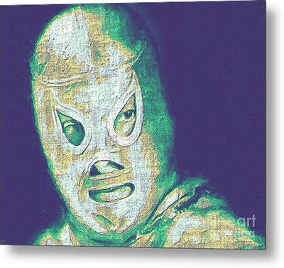 El Santo The Masked Wrestler 20130218v2 Metal Print by Wingsdomain Art and Photography