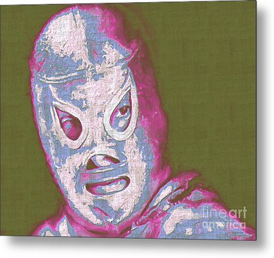 El Santo The Masked Wrestler 20130218v2m168 Metal Print by Wingsdomain Art and Photography