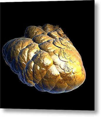 Metal Print featuring the digital art Electrified Gold Nugget by Pete Trenholm
