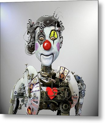 Electronic Clown Metal Print