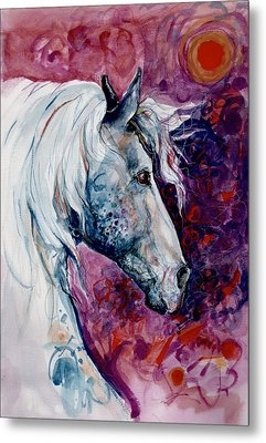 Elegant Horse Metal Print by Mary Armstrong