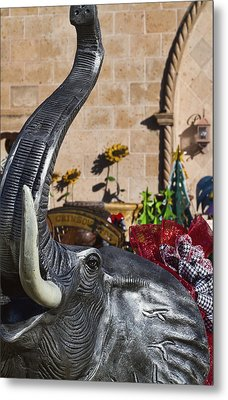 Elephant Celebration Metal Print by Kathy Clark