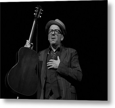 Elvis Costello Metal Print by Jeff Ross