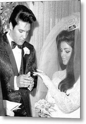 Elvis Presley Getting Married Metal Print by Retro Images Archive