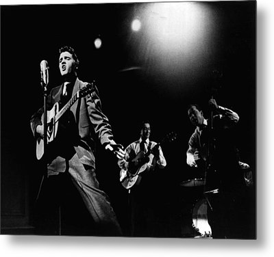 Elvis Presley Playing Hard  Metal Print by Retro Images Archive