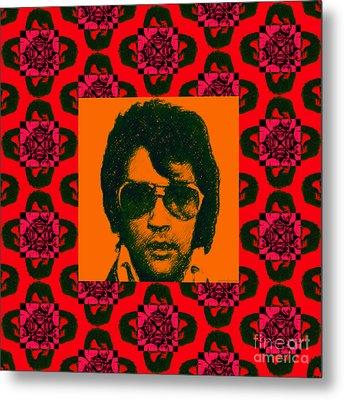 Elvis Presley Window M35 Metal Print by Wingsdomain Art and Photography