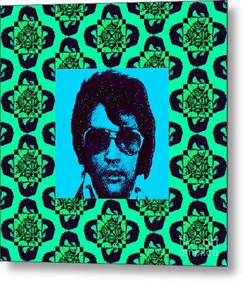 Elvis Presley Window P128 Metal Print
