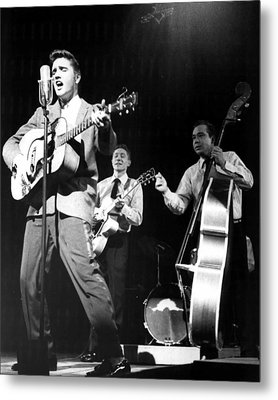 Elvis Presley With Band Metal Print by Retro Images Archive