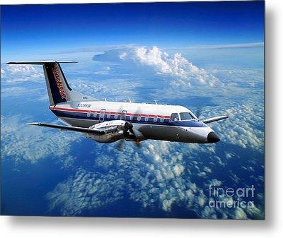 Embraer Emb-120er Braslia Skywest  Metal Print