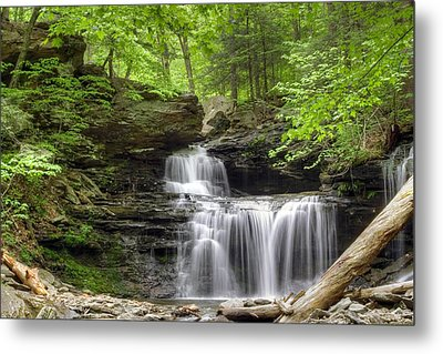 Metal Print featuring the photograph Emerald Trees Surround R. B. Ricketts Falls by Gene Walls
