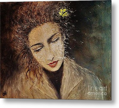 Metal Print featuring the painting Emotions... by Cristina Mihailescu