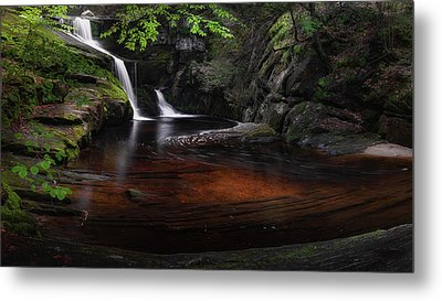 Metal Print featuring the photograph Enders Falls Spring by Bill Wakeley