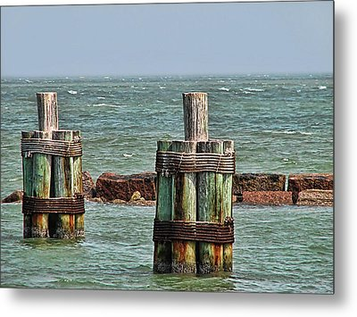 Endlessly Staring Out To Sea Metal Print by Wendy J St Christopher