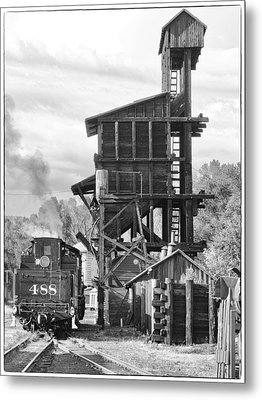 Engine 488 At The Tipple Metal Print by Shelly Gunderson