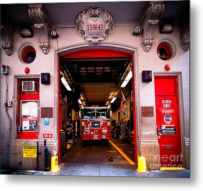 Engine Company 65 Firehouse Midtown Manhattan Metal Print by Amy Cicconi