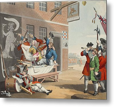 England, Illustration From Hogarth Metal Print
