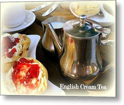 English Cream Tea Metal Print