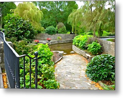 Enter The Garden Metal Print by Charlie and Norma Brock
