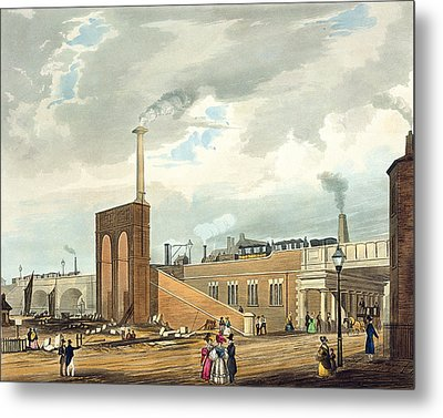 Entrance Into Manchester Across Water Metal Print by Thomas Talbot Bury