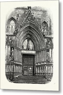 Entrance To The Church Of Santa Maria Del Mar Metal Print